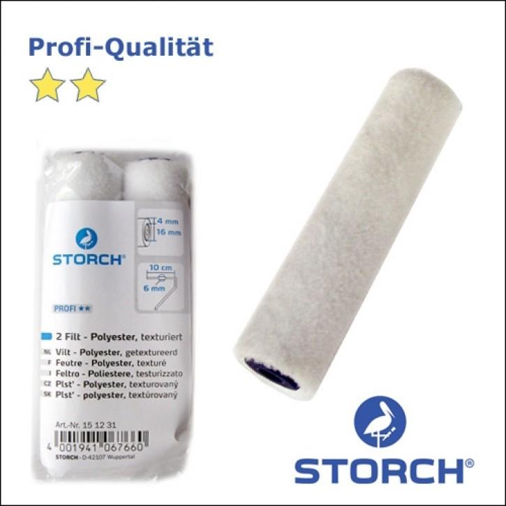 Storch Lackierwalze 10cm - Filt-Polyester texturiert